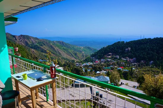 View of the Hills as seen from the balcony of Jagatram Niwas, a comfortable Homestay