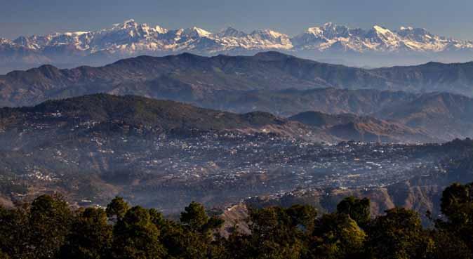Panoramic Himalayan Ranges as seen from Sitlakhet, Ranikhet