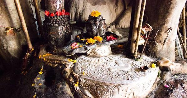 Inside the Cave at Trilokinath Temple-Mcleodganj