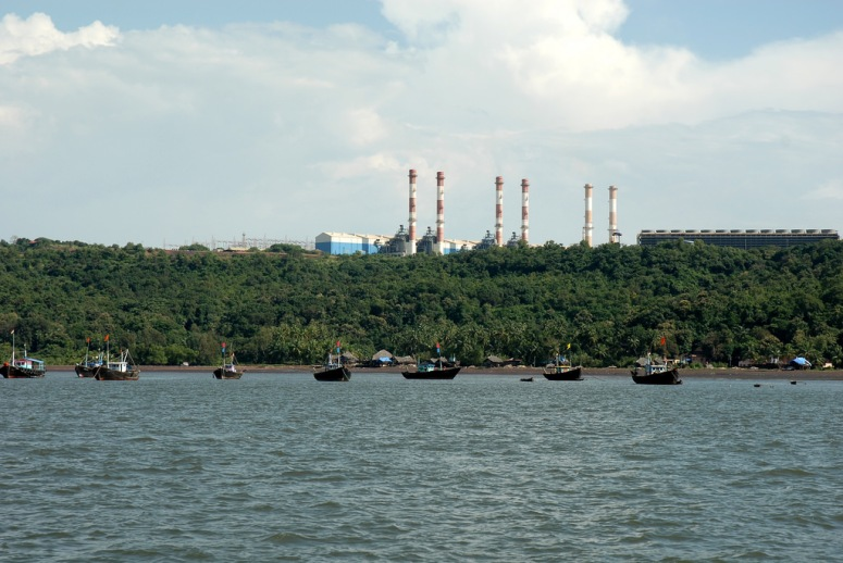 Dabhol Power Station is located near Anjanwel village