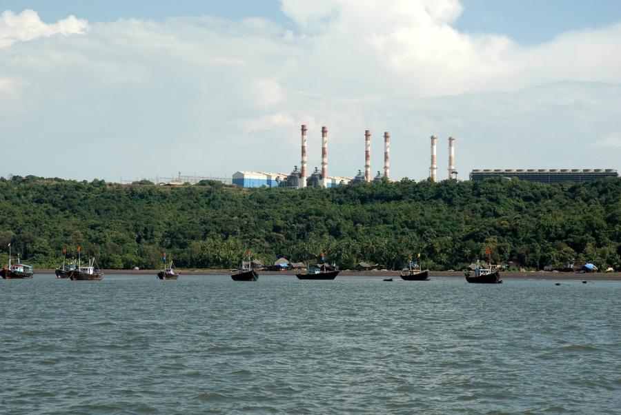 Dabhol Power Station is located near Anjanwel village
