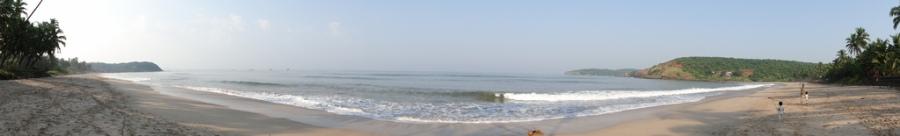 Panoramic View of the Velneshwar Beach