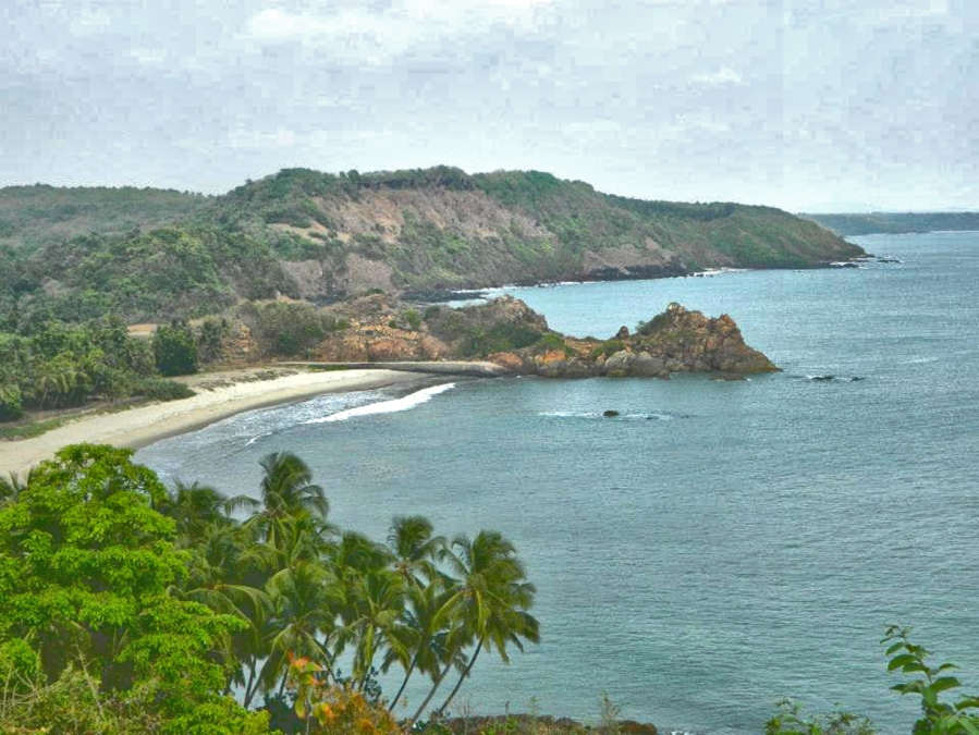 Nivati Beach View, as seen from a Hillside