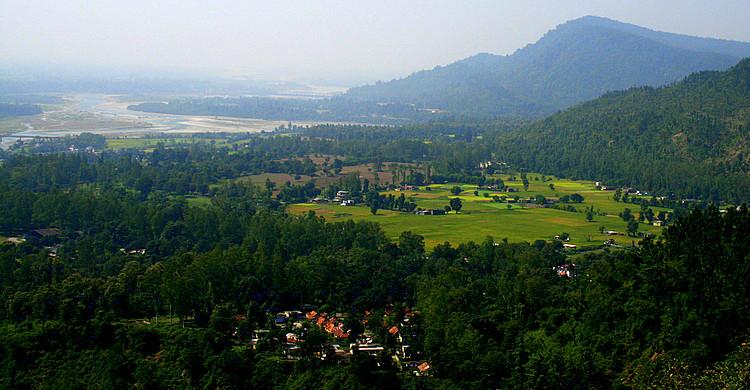 Lush green Kalsi valley