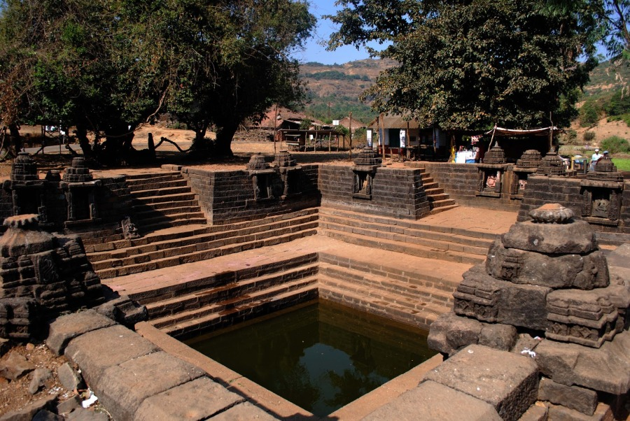 Jal Kund at the Temple