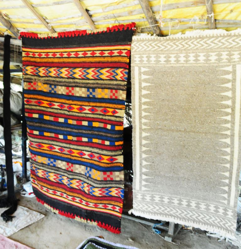 Beautiful Durries made at Bhujodi Village