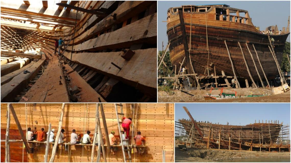 Images depicts the massive Ships being built at Mandvi Port