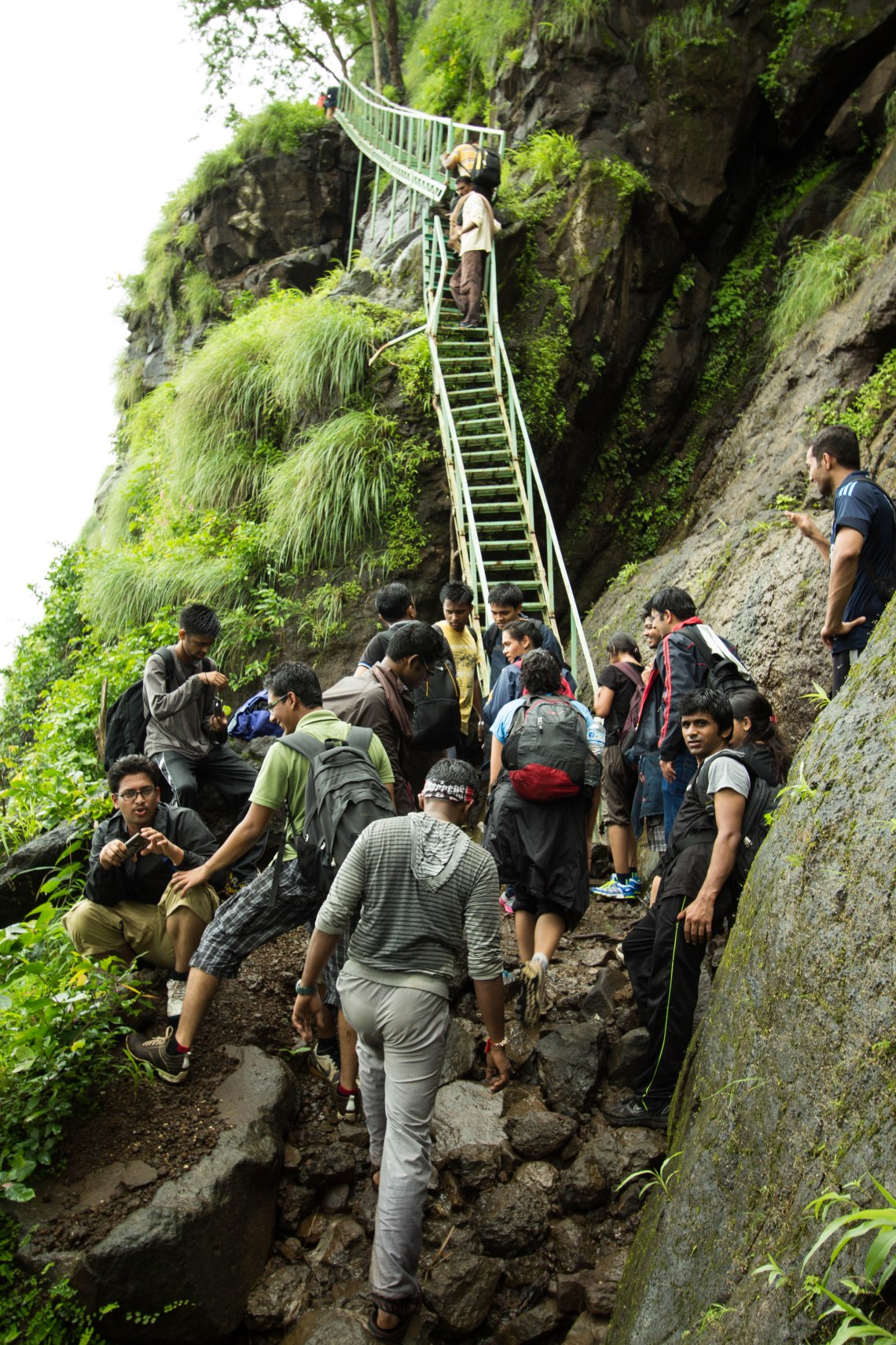 Steps on Siddi Route to Bhimashankar