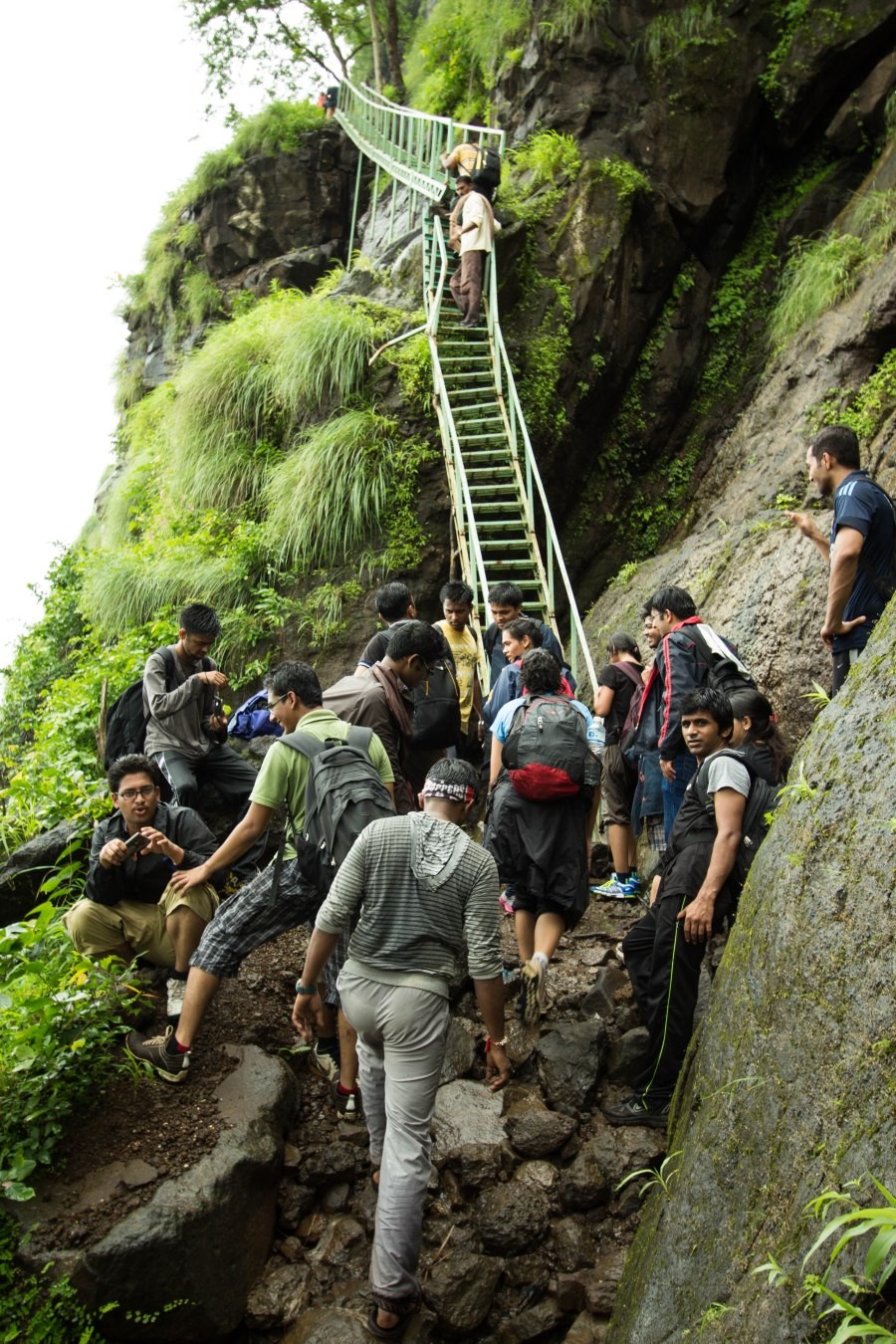 Steps on Siddi Route to Bhimashankar