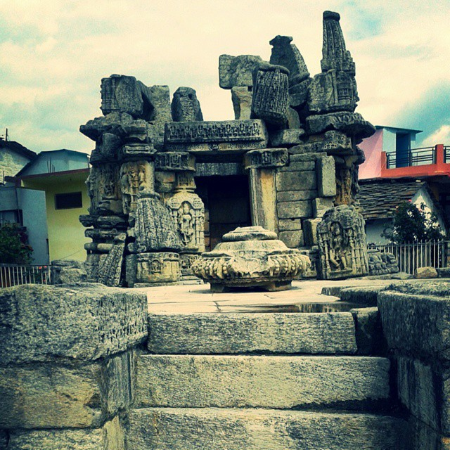 Ruins of the Gujardev Mandir at Dwarahat, Uttarakhand
