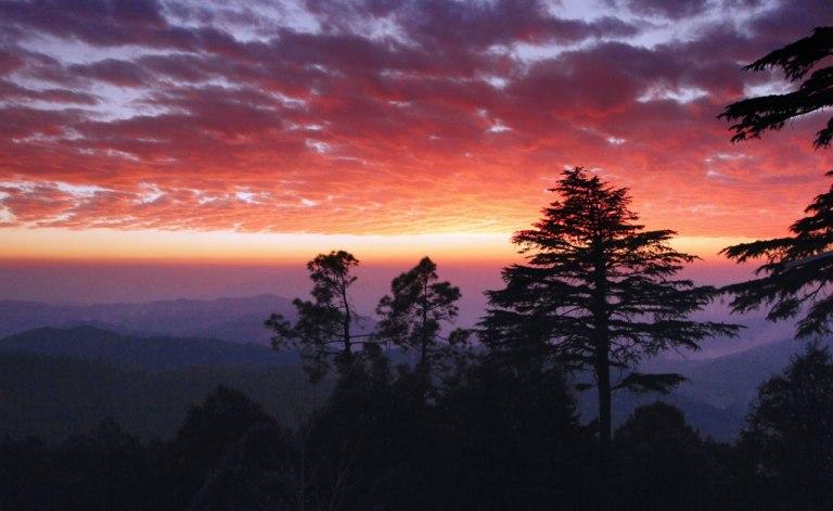 Sunset at Dunagiri Image Copyright Piyush Kumar, Owner Dunagiri Retreat