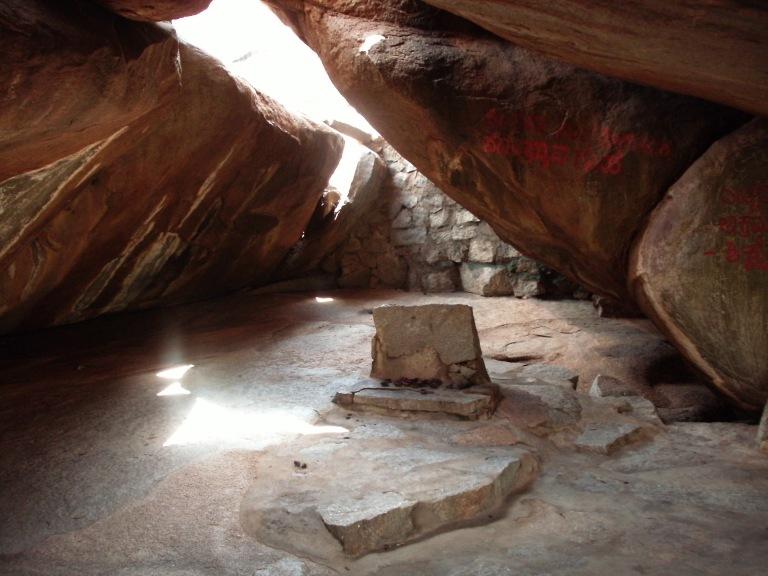 Inside the Main cave of to Mahavatar Babaji, Dwarahat