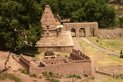 Ancient Temples at Bhangarh Premises