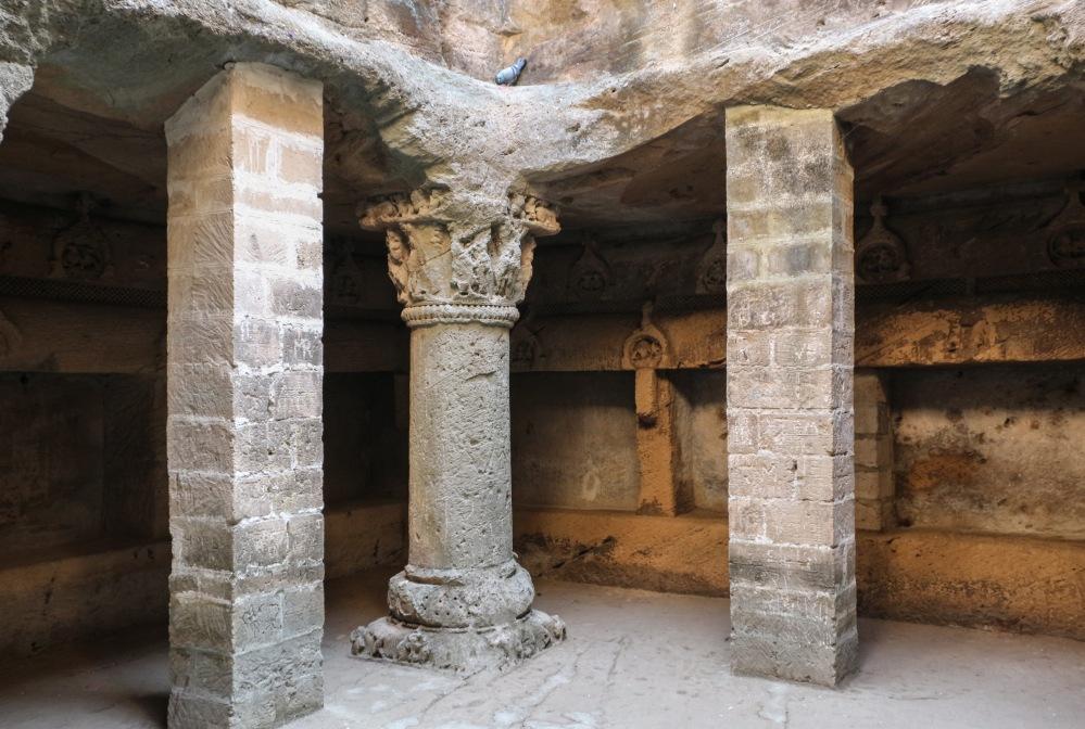 Buddhist Caves inside the Uperkot Fort