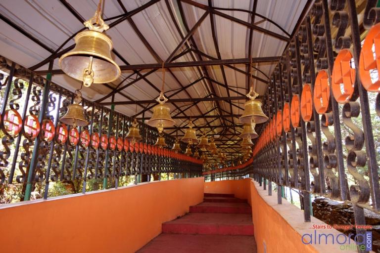 Steps leading to the Dunagiri Temple