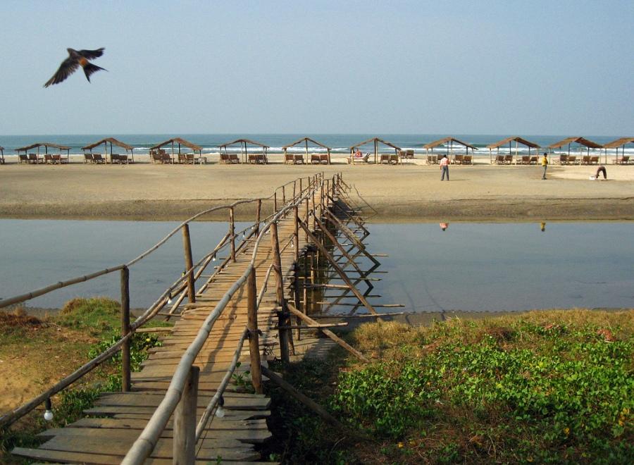 The Bridge Connects to Mandrem Beach