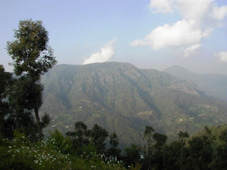 Pandukholi and Bhatkot as seen from Dunagiri