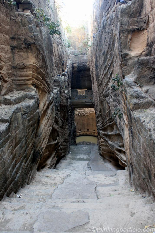 Steps to Adi Chadi Vav, Junagadh