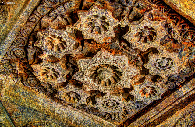 Intricate Carvings inside the Shiva Temple, Tambdi Surla