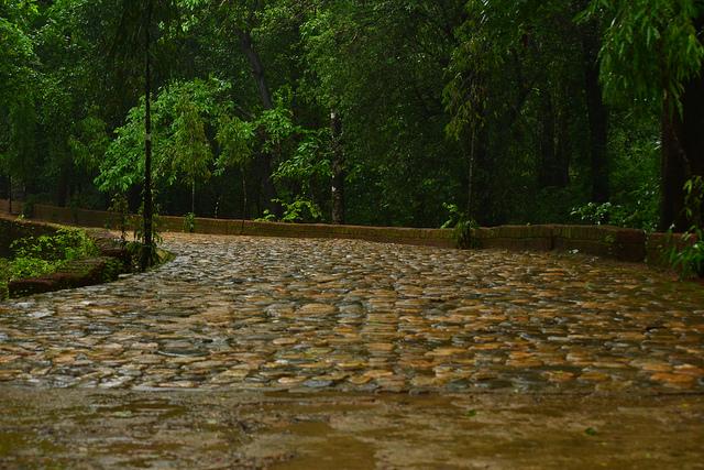 Pathway to Mahadev Temple, Tambdi Surla