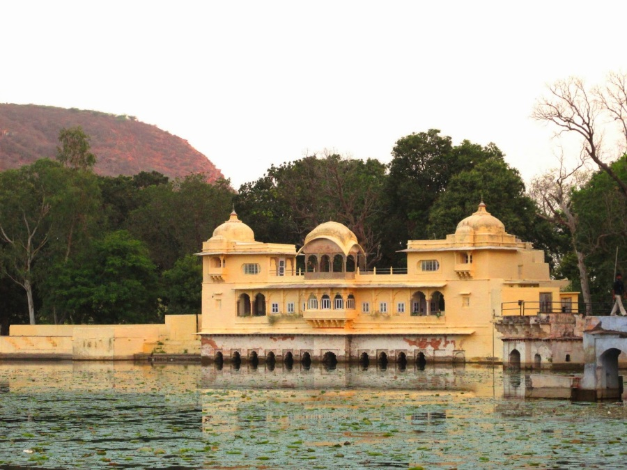 Sukh Mahal as seen from Jait Sagar
