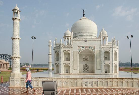 Replica of the Taj Mahal at the 7 Wonders Garden, Kota