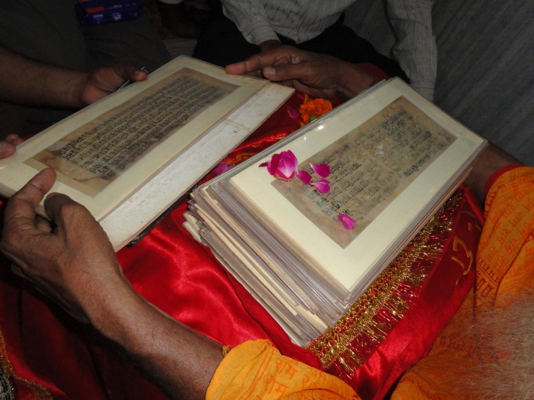 Rajapur, the birthplace of Goswami Tulsidas has an original copy of the Ayondhya Kand - Ramayana