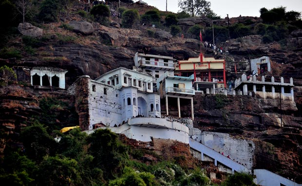 View of Hanuman Dhara as seen from the stairways