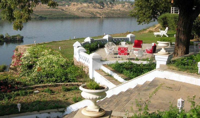 Garden View of Brijraj Bhawan Palace