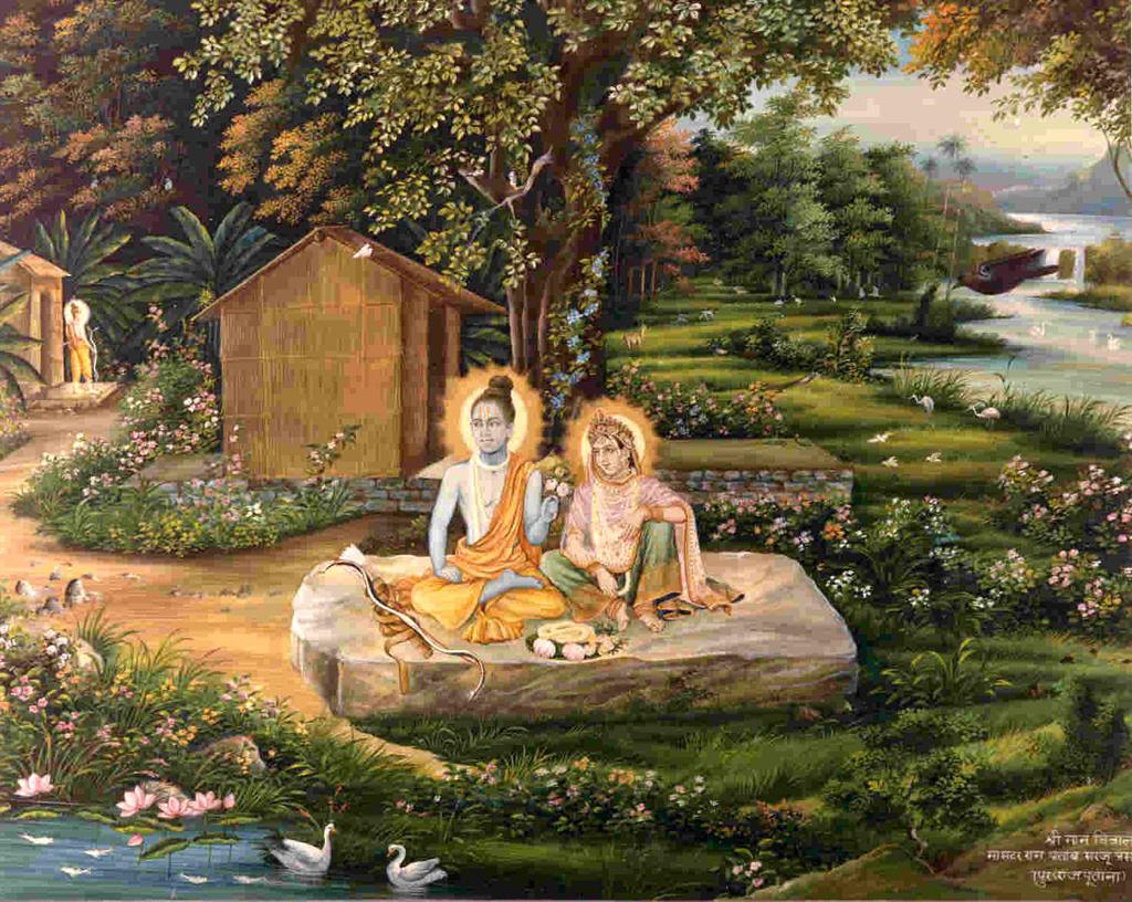 SitaRama-exile-chitrakoot-kakasura-ramayan-desibantu