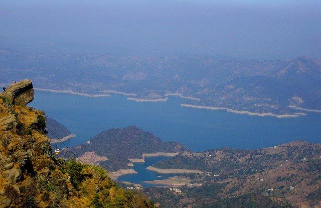 Birds View of Bhakra Nangal Reservoir