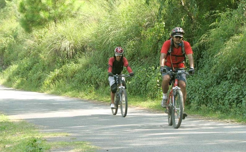 Cycle through the winding roads and enjoy the fresh air
