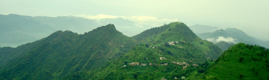 Shivalik Hills as viewed from Naina Devi Temple, Bilaspur