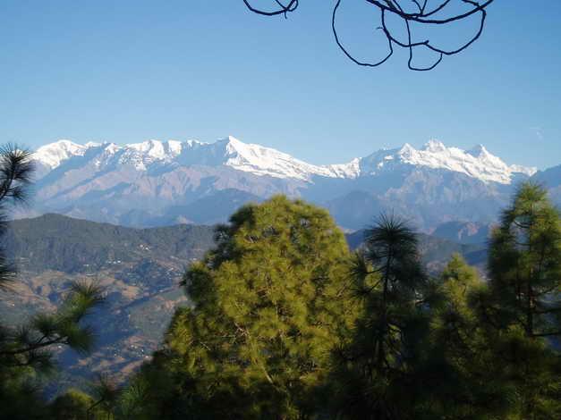 At Vijaypur one can see the Himalayan Ranges - Bageshwar