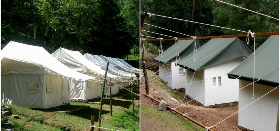 Accommodation at Camp ROXX, Kagojodi