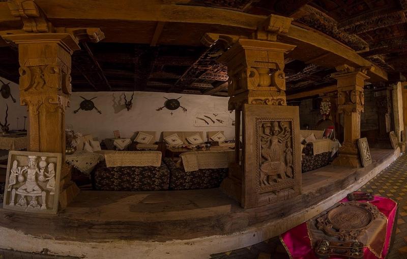 The Diwan-i-Khas or inner sitting area at Kotkhai Palace