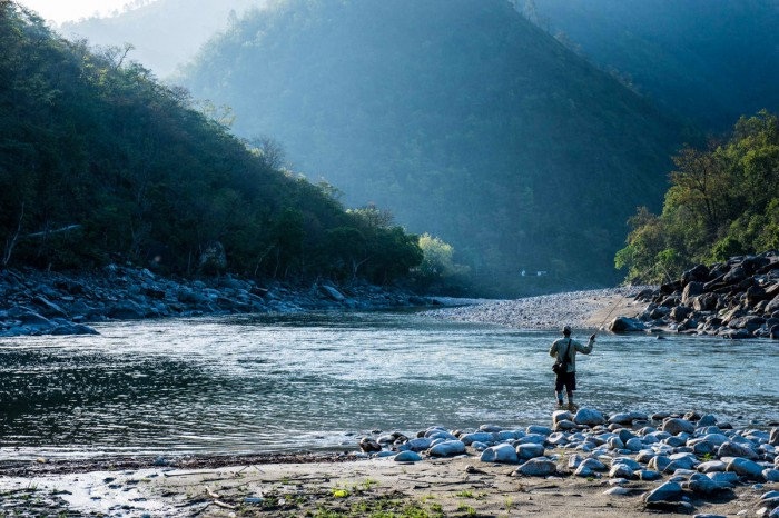 Fishing for Mahaseer, River Saryu