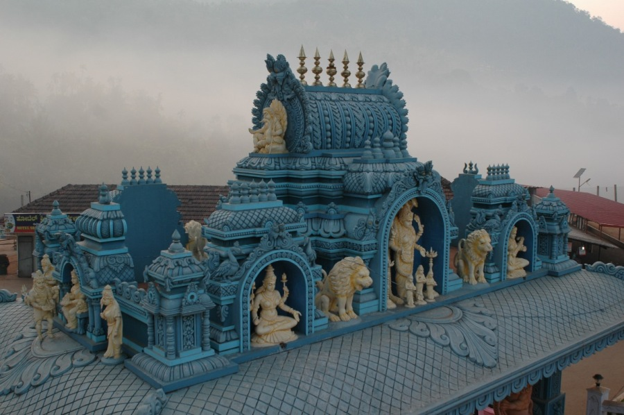 Beautiful carved roof at Adi-Shaktyatmaka Shri Annapoomeshwari Temple