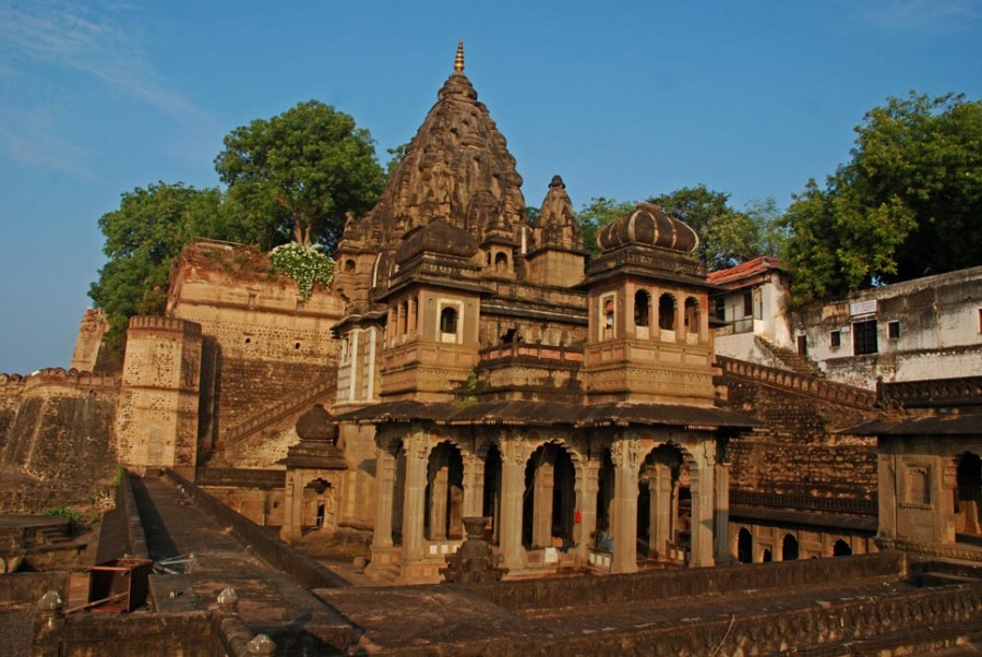 Ahilyeshwar Temple, inside the temple complex of Ahilya Fort Maheshwar
