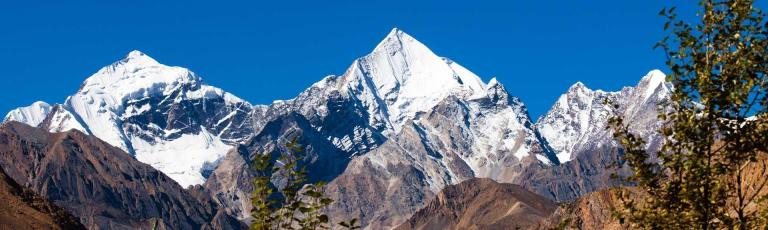 Snow Clad Mountains as Seen from Dharchula, India