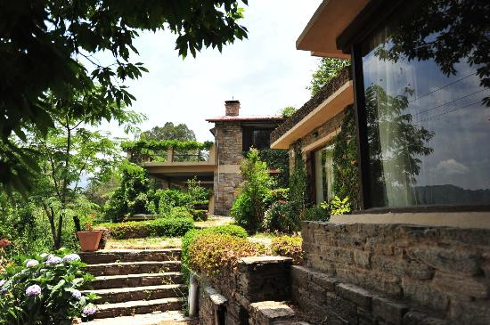 The terraced Gardens at Bob's Place, a Welcome Heritage Hotel at Nathuakhan