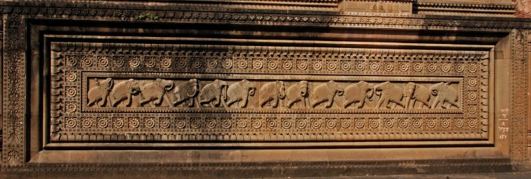 Elaborate Carvings seen at the Ahilya Fort