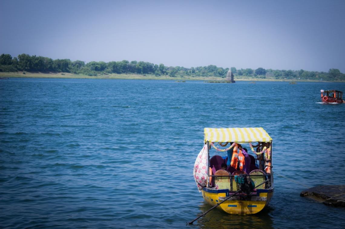 Sacred Narmada River at Maheshwar