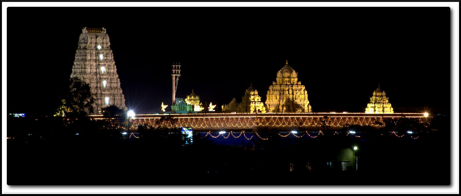 Narayanpur Balaji Temple at Night
