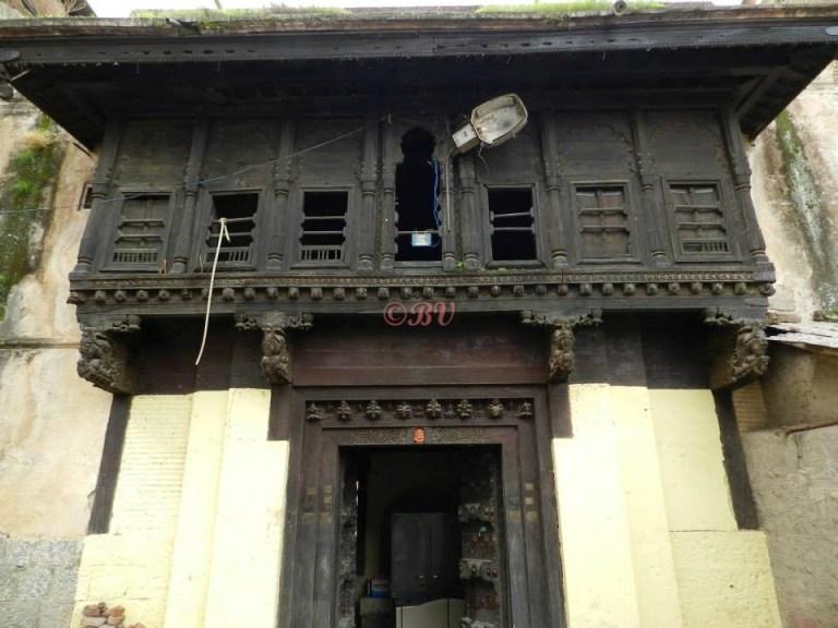 Ruins seen at Ambaji Purandare Wada, Saswad