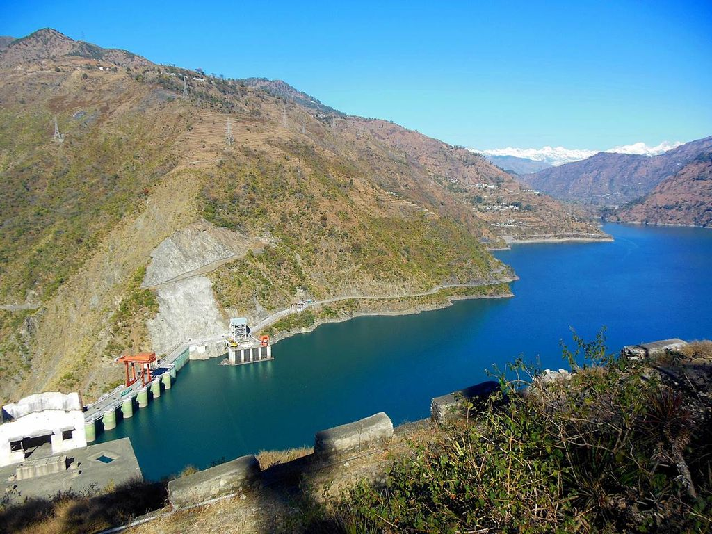 View of the Beautiful Chamera Lake, on Chamba-Dalhousie Road