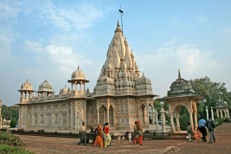Outer View of the Madhav Rao Scindia Cenotaph-Chhatri. Shivpuri, Madhya Pradesh