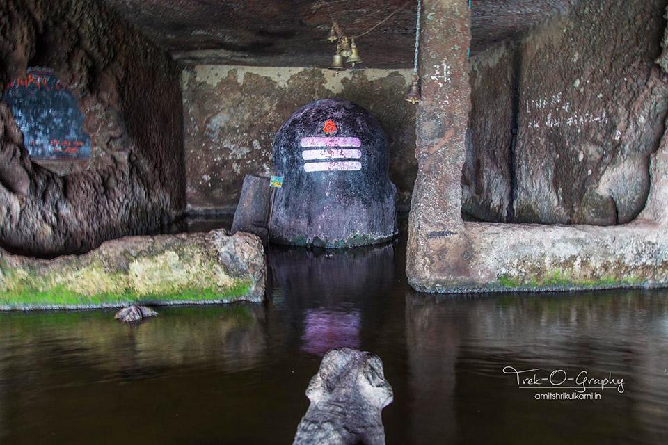 Shiva Linga at Palpeshwar Caves near Wai